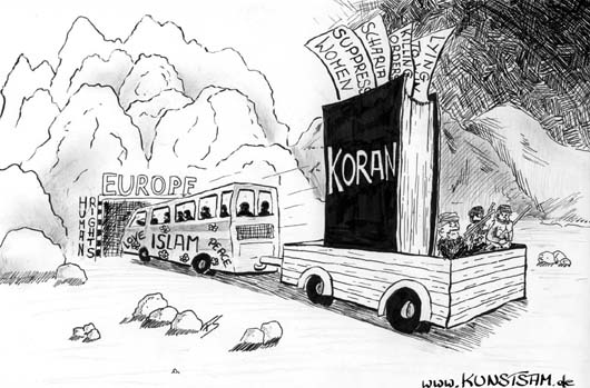 Der Islam in Europa - Karikatur