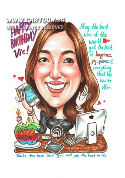 CartoonSG Singapore Caricature Artists For Gifts