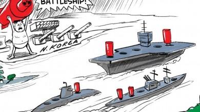 North Korean Nuclear Threat Cartoon