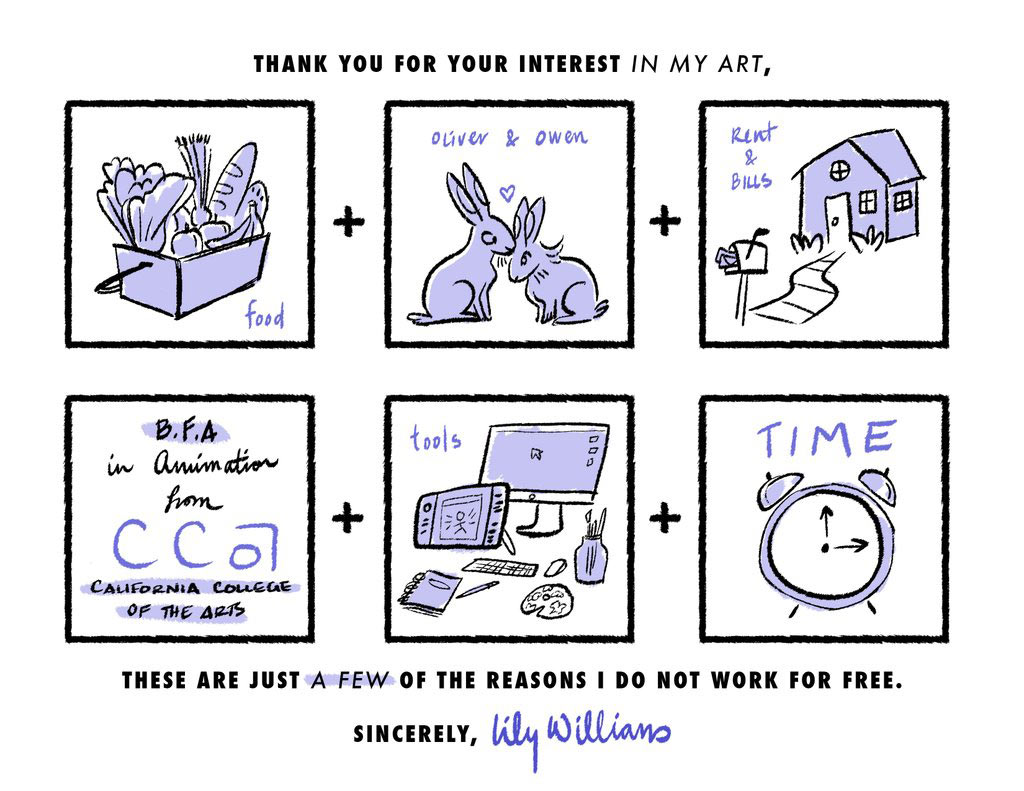 Here S How To Tell People You Can T Create Free Artwork