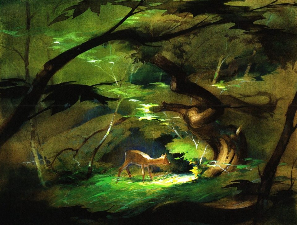 """Bambi"" concepts by Tyrus Wong."