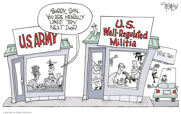The Militia Comics And Cartoons | The Cartoonist Group