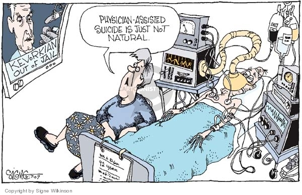 Image result for assisted dying cartoon