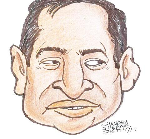 Caricature by Chandra Shetty