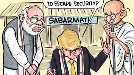 Trump at Sabarmati, Gandhi forgotten!