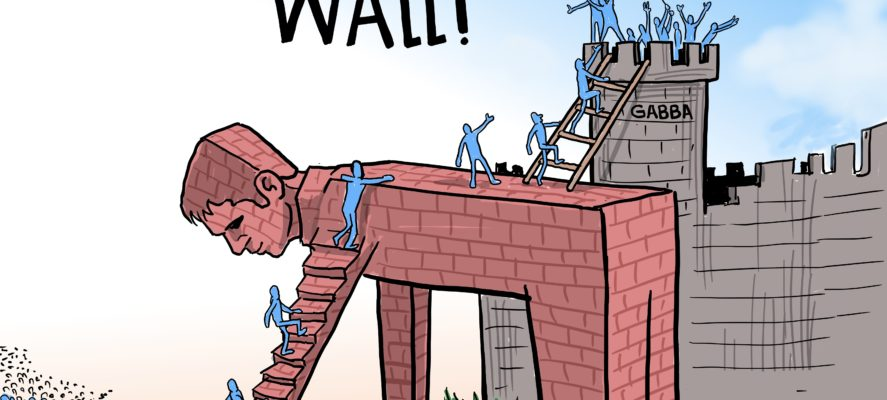 The wall cartoon