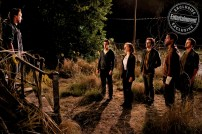 IT CHAPTER TWO (L-r) JAMES McAVOY as Bill Denbrough, JAMES RANSONE as Eddie Kaspbrak, JESSICA CHASTAIN as Beverly Marsh, BILL HADER as Richie Tozier, ISAIAH MUSTAFA as Mike Hanlon, and JAY RYAN as Ben Hascomb