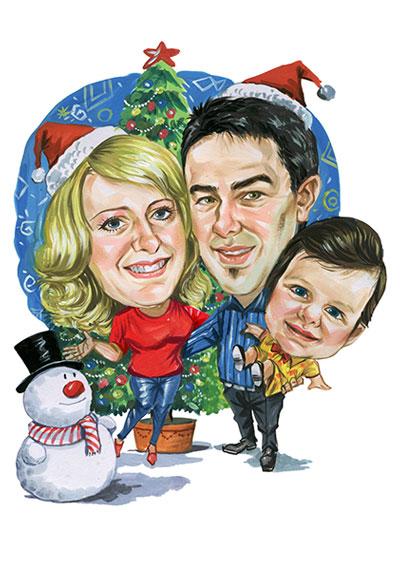 Christmas Caricatures Za