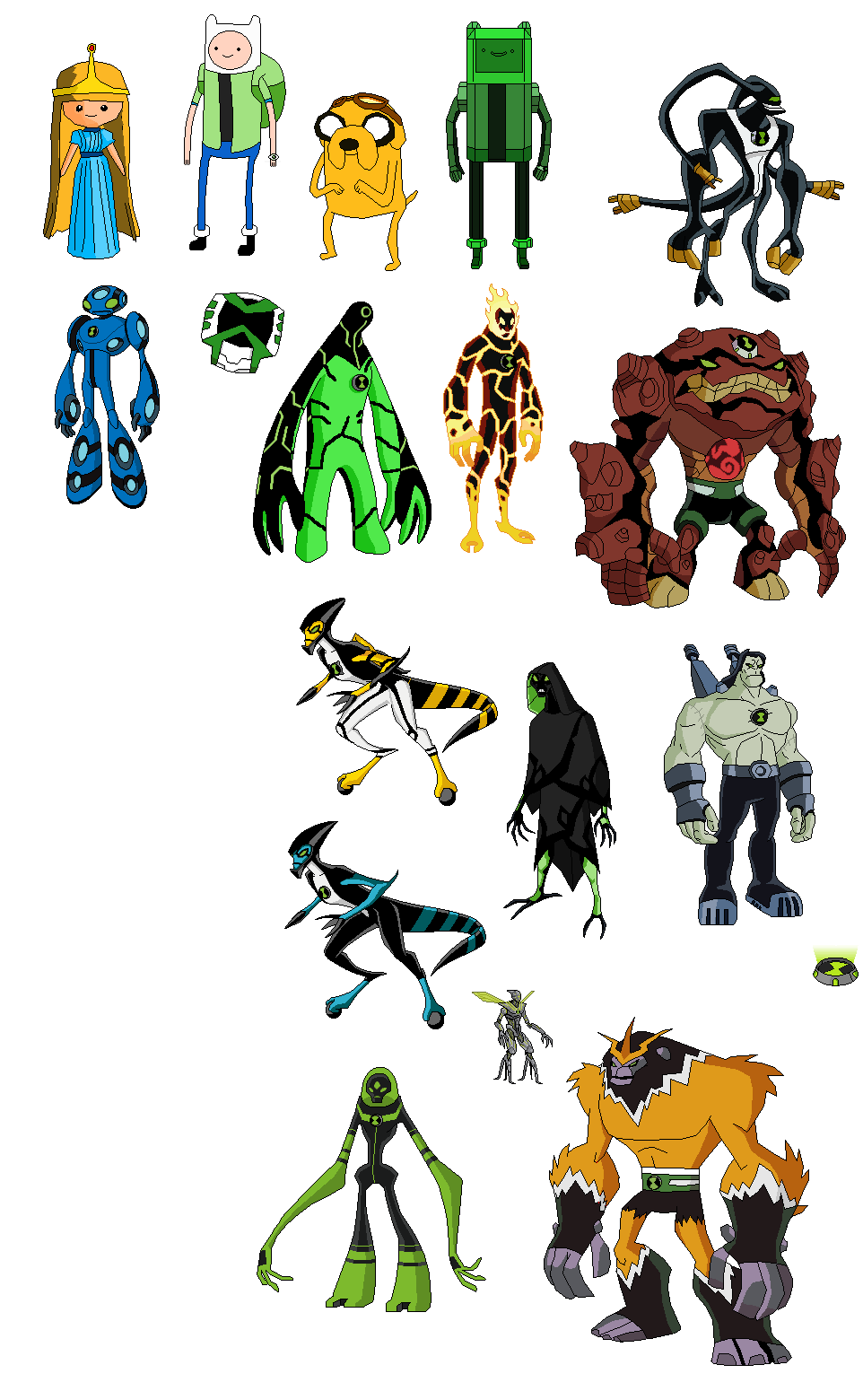 ben 10 omniverse new aliens names and powers