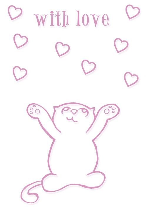 valentines cat cartoon