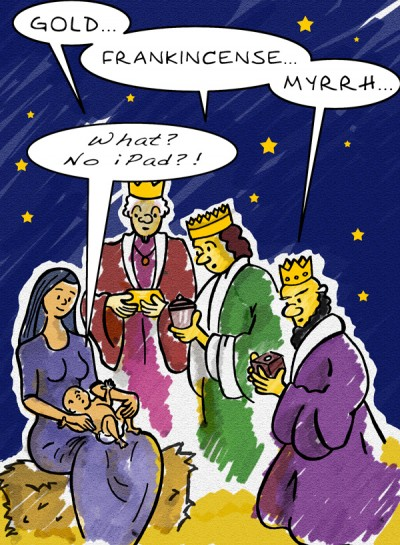 Christmas iPad cartoon