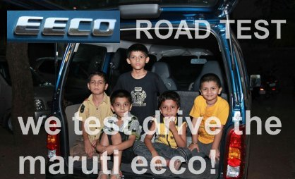 maruti eeco road test
