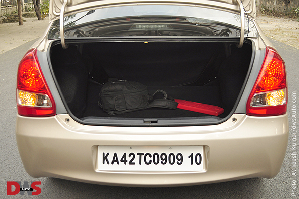 Toyota Etios boot space photo