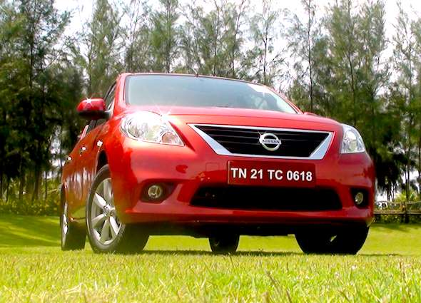 nissan sunny front low photo