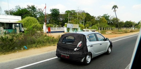 2013 Hyundai i20 rear spied