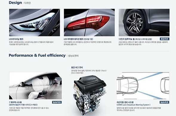 Hyundai santa fe brochure