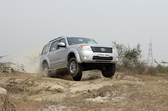 ford endeavour 4x4 jump