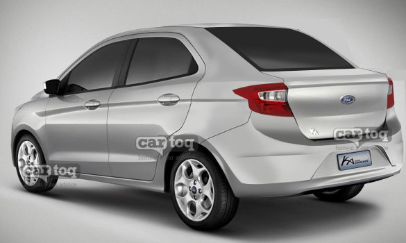 CarToq's Exclusive Render of the 2015 Ford Figo/Ka based compact sedan image