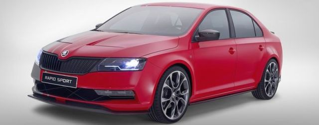 Skoda Rapid Sport Concept used as an illustration photo