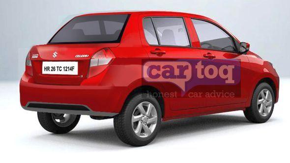 Maruti Suzuki Celerio based compact sedan speculative render picture
