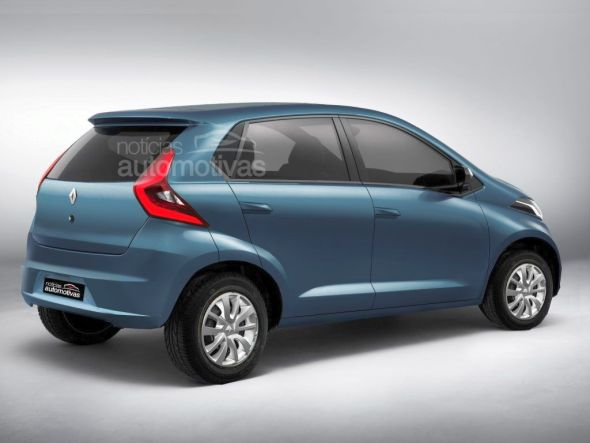 Speculative render of the Renault A-Entry (XBA) budget hatchback photo