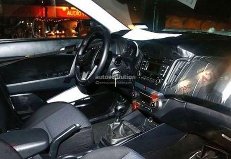 Hyundai iX25 Compact SUV Interiors Spyshot 1