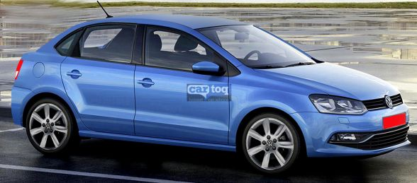 CarToq's speculative render of the Volkswagen Vento based compact sedan image