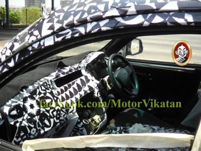 Mahindra S101 interiors spyshot