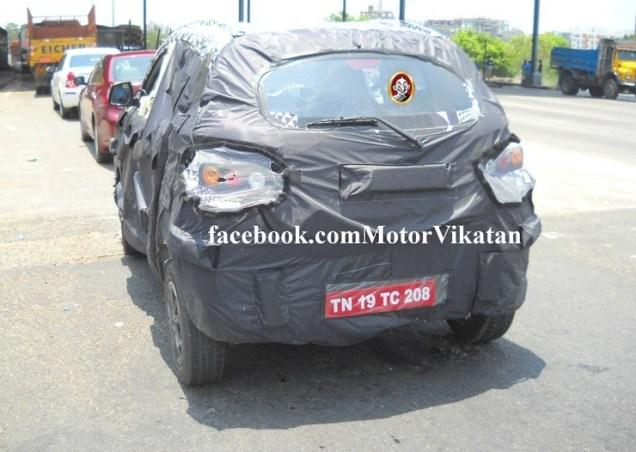 Mahindra S101 rear spyshot