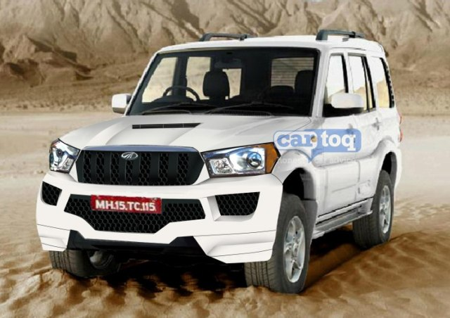 Cartoq's speculative render of the 2014 Mahindra Scorpio SUV Facelift Photo