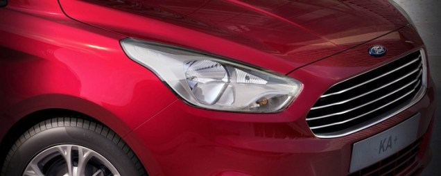 Ford Figo sedan front grille and headlamps