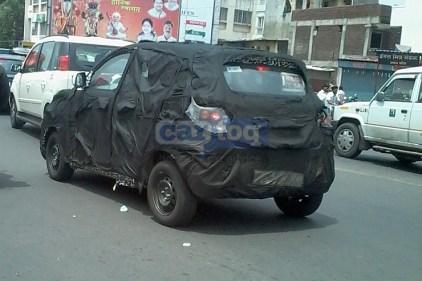 Mahindra S101 Compact SUV Spyshot 2