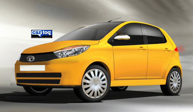 Tata Kite Hatchback Render in Yellow