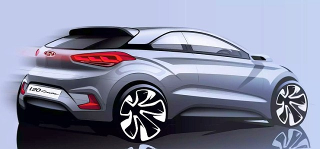 Official Sketch of 2015 Hyundai i20 Coupe 3 Door High Performance Hatchback Photo