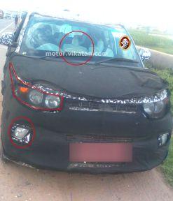 2015 Mahindra S101 Micro SUV Spyshot 1