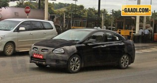 Verna facelift caught on test 1