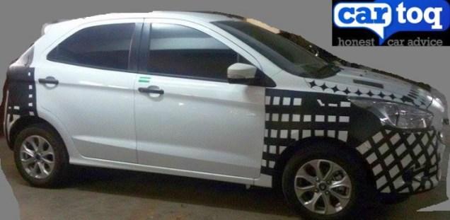 2015 Ford Figo Hatchback Spyshot Profile