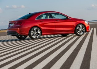 Mercedes Benz CLA Sedan Rear Angle