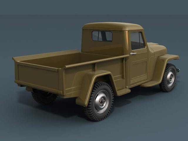 1951 Willy's Jeep Truck Rear