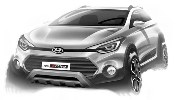 2015 Hyundai i20 Active Sketch Front