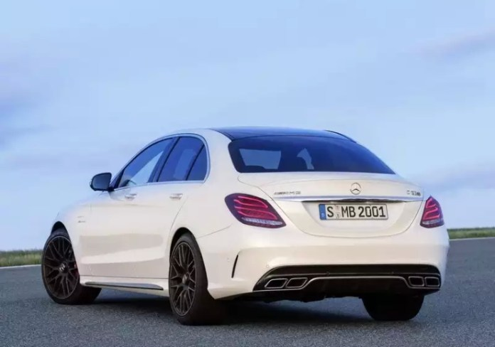 2015 W205 Mercedes Benz C63 AMG S Sportscar Rear Three Quarters