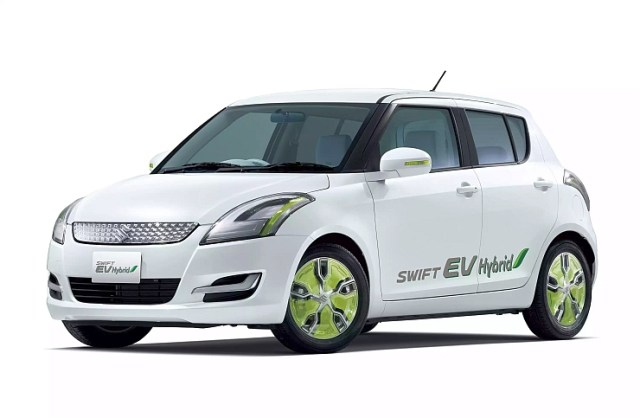 Maruti Suzuki Swift Range Extender Hybrid Front Three Quarters