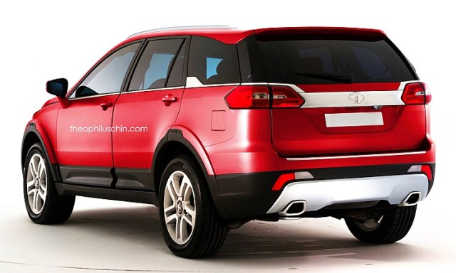 2017 Tata Q501 Luxury SUV Render Rear