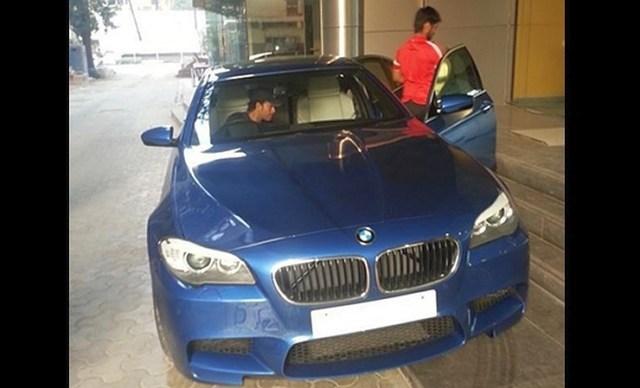 Sachin Tendulkar in the BMW M5