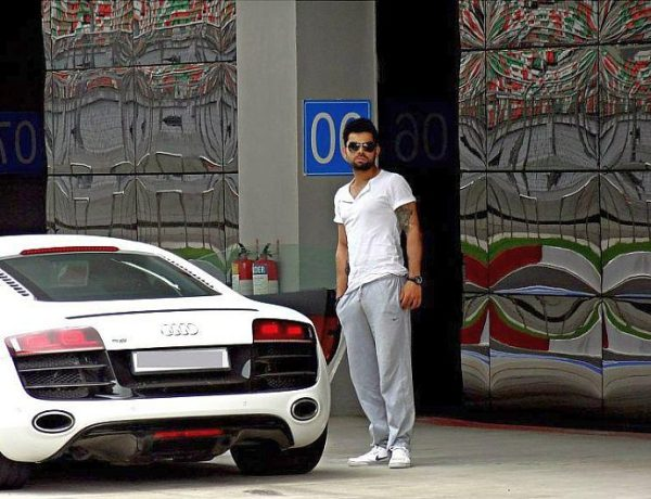 Virat Kohli with his Audi R8 Supercar