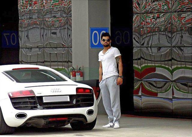 Virat Kohli with his Audi R8 Supercar