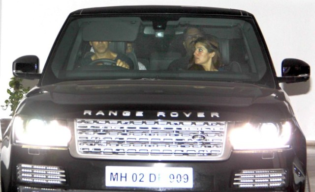 Akshay Kumar in his Range Rover Vogue SUV