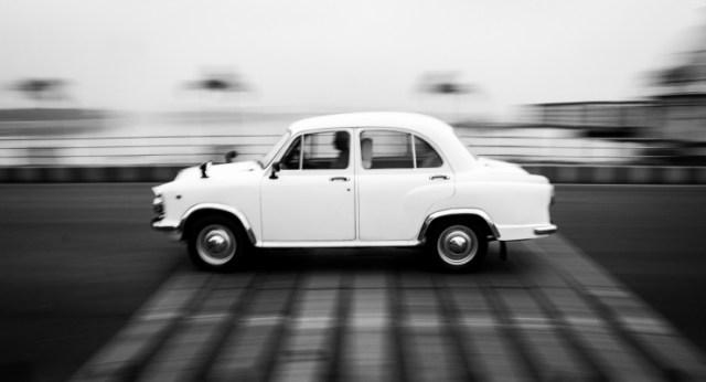 Hindustan Ambassador On The Move