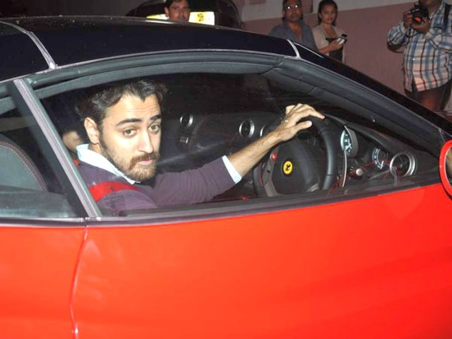 Imran Khan with his Ferrari California 2