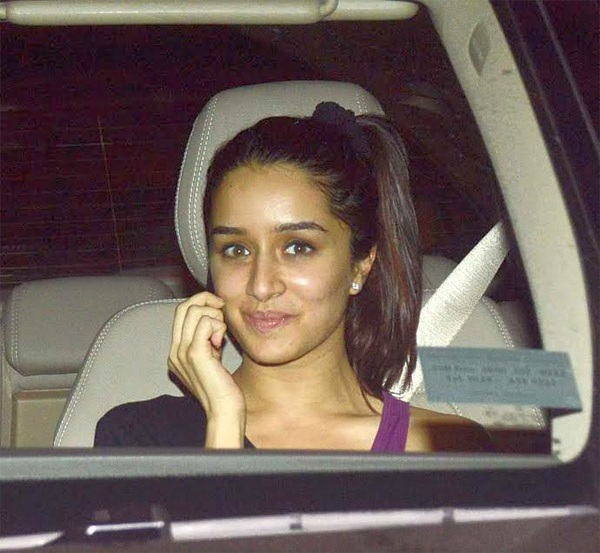 Shraddha Kapoor in her Mercedes Benz S-Class